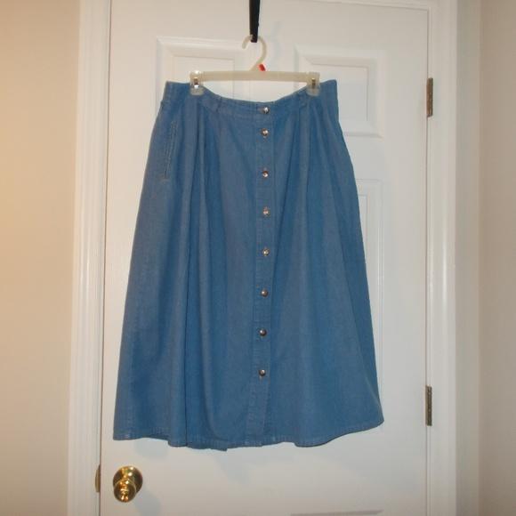 03ff05098 Koret Skirts | Blue Denim Flare Skirt Size 22w In Women | Poshmark